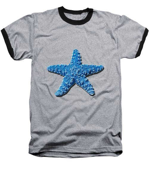 Baseball T-Shirt featuring the photograph Sea Star Medium Blue .png by Al Powell Photography USA