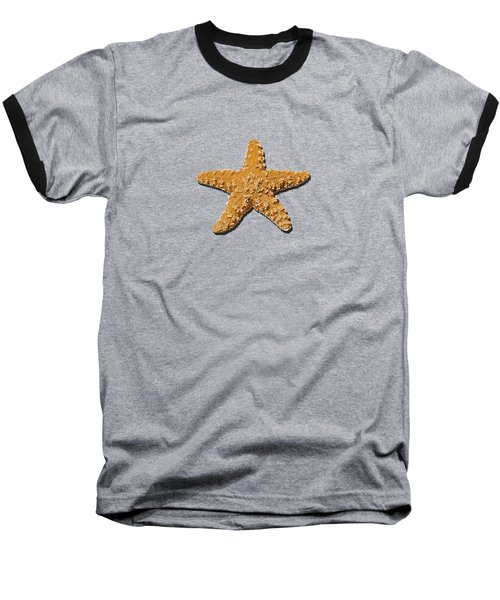 Sea Star Orange .png Baseball T-Shirt by Al Powell Photography USA