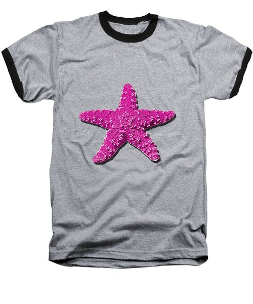 Sea Star Pink .png Baseball T-Shirt by Al Powell Photography USA