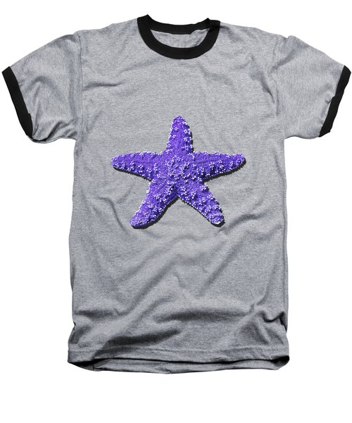 Sea Star Purple .png Baseball T-Shirt by Al Powell Photography USA