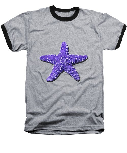 Sea Star Purple .png Baseball T-Shirt