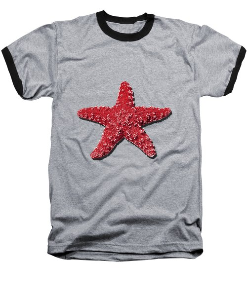 Sea Star Red .png Baseball T-Shirt by Al Powell Photography USA