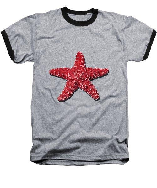 Sea Star Red .png Baseball T-Shirt