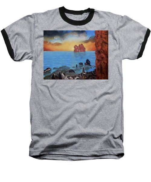Sea Sunset Baseball T-Shirt