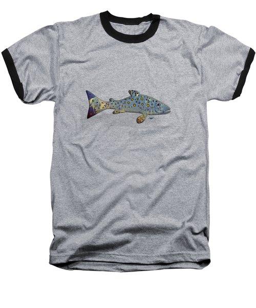 Sea Trout Baseball T-Shirt by Mikael Jenei