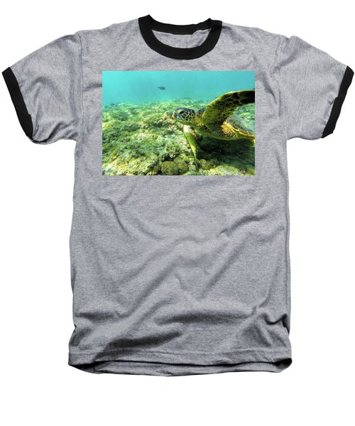 Baseball T-Shirt featuring the photograph Sea Turtle #2 by Anthony Jones