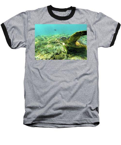 Sea Turtle #2 Baseball T-Shirt
