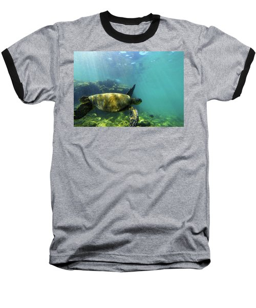 Baseball T-Shirt featuring the photograph Sea Turtle #5 by Anthony Jones