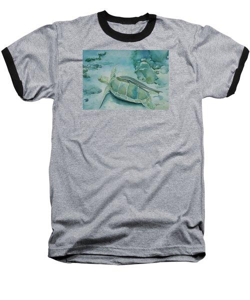 Sea Turtle And Friend Baseball T-Shirt