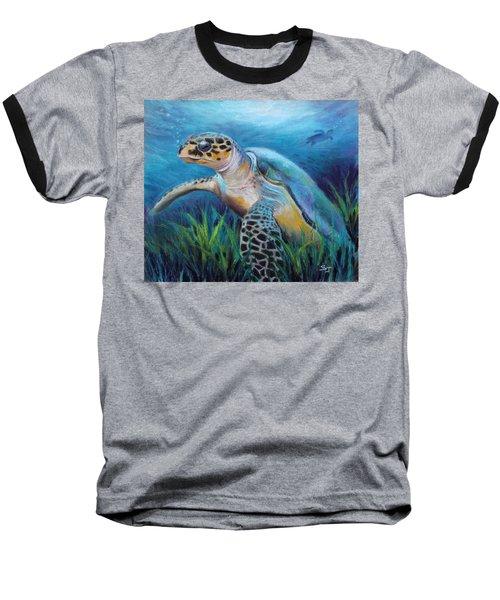 Sea Turtle Cove Baseball T-Shirt