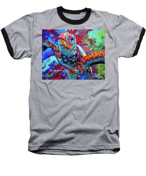 Sea Turtle Baseball T-Shirt by Maria Arango