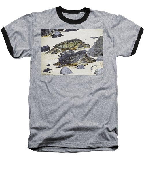 Baseball T-Shirt featuring the photograph Sea Turtles by Gena Weiser