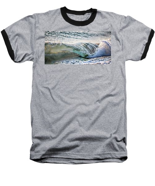 Sea Turtles In The Waves Baseball T-Shirt by Barbara Chichester