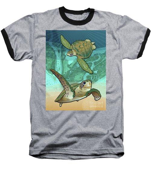 Sea Turtles Near Beaufort, Sc Baseball T-Shirt