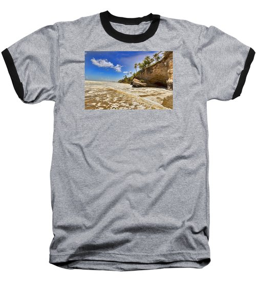 Sea Waves Baseball T-Shirt