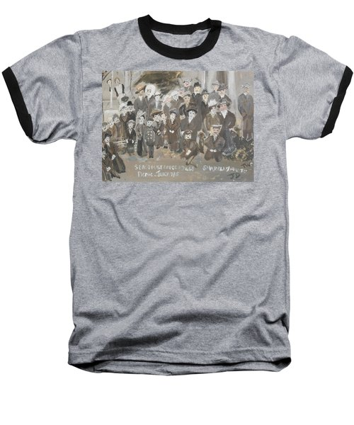 Baseball T-Shirt featuring the painting Seacombe Picnic by Judith Desrosiers