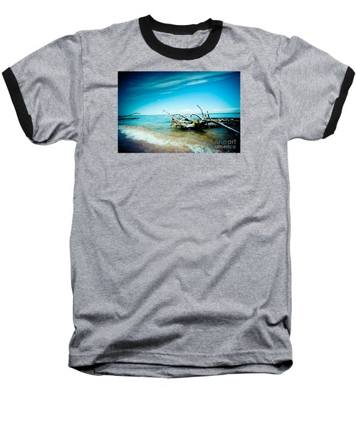 Seacost With Old Tree In Water Kolka Baseball T-Shirt