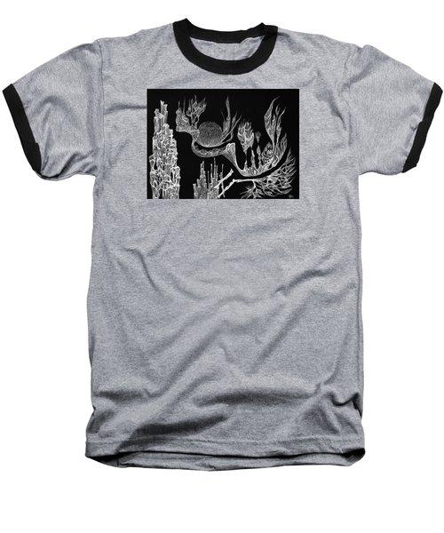Seadragon Dreams Baseball T-Shirt by Charles Cater