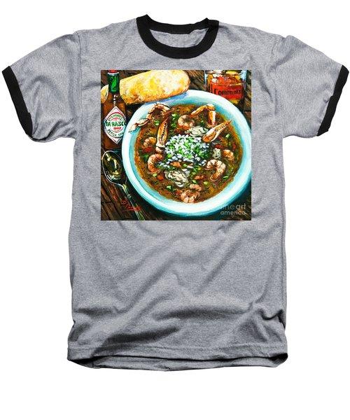 Seafood Gumbo Baseball T-Shirt