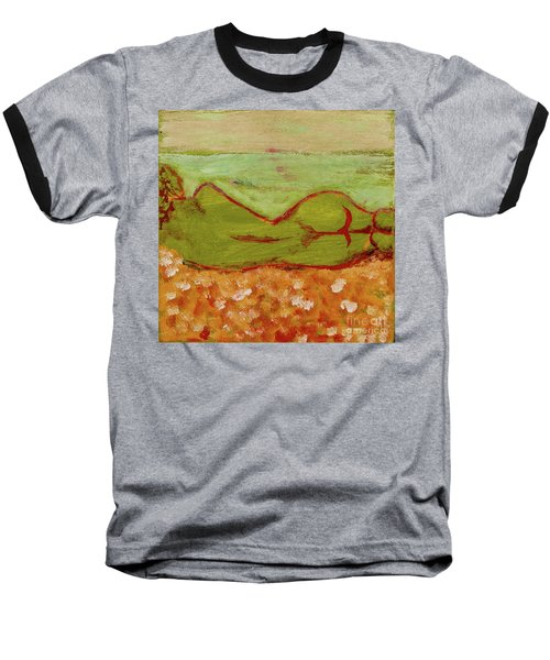 Baseball T-Shirt featuring the painting Seagirlscape by Paul McKey