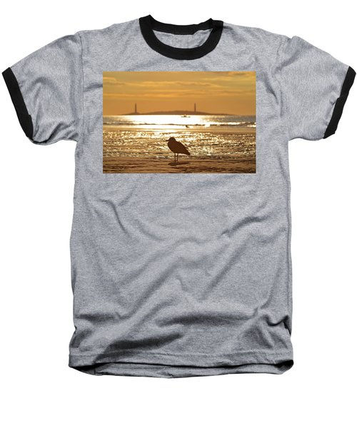 Seagull Admiring Thacher Island Gloucester Ma Good Harbor Beach Baseball T-Shirt