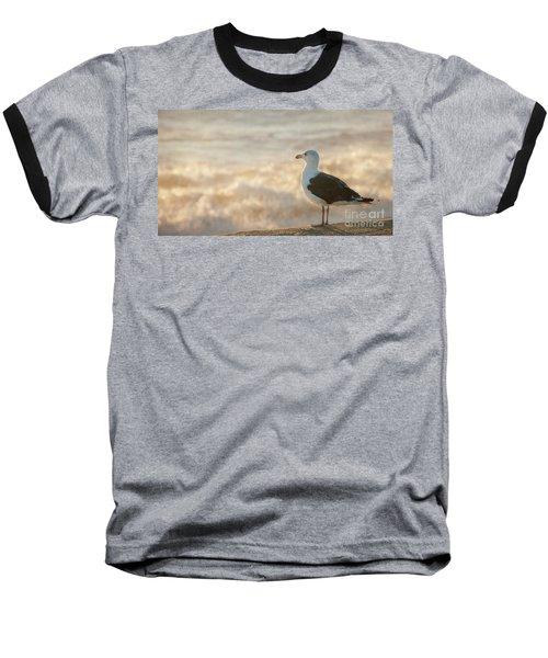Seagull At Sunrise Baseball T-Shirt