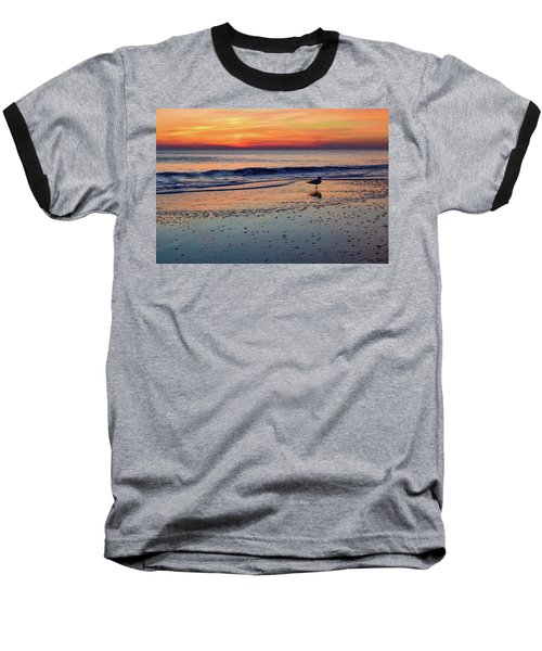 Seagull At Sunrise Baseball T-Shirt