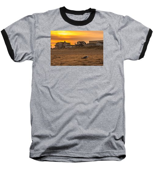 Seagull At Sunset Baseball T-Shirt