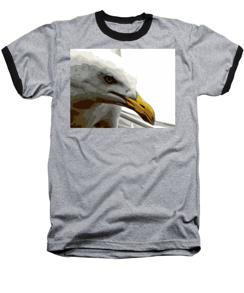 Seagull Closeup Baseball T-Shirt