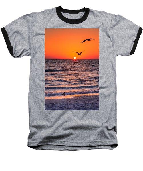 Seagull Hat-trick Baseball T-Shirt by Craig Szymanski