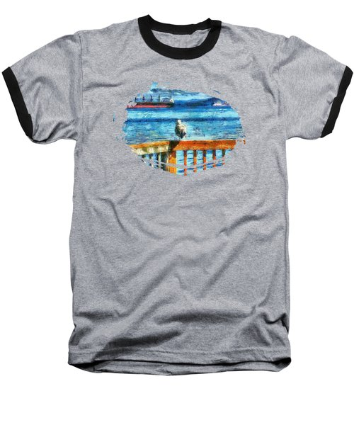 Seagull In Astoria  Baseball T-Shirt by Thom Zehrfeld