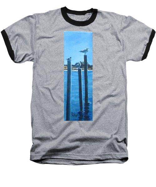 Seagull On A Stick Baseball T-Shirt