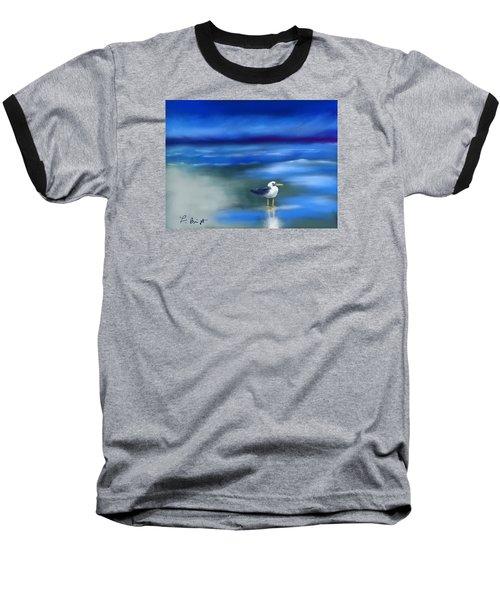 Seagull Standing 2 Baseball T-Shirt by Frank Bright