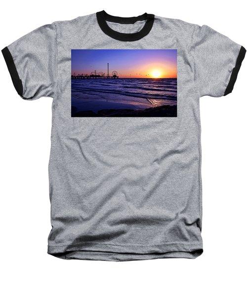 Seagull Sunrise Baseball T-Shirt