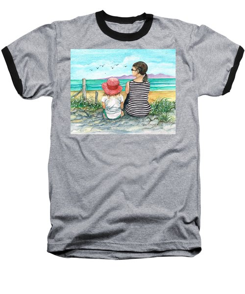 Baseball T-Shirt featuring the photograph Seagull Survey by Val Stokes