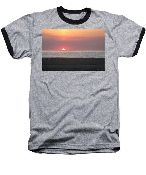 Seagull Watching Sunrise Baseball T-Shirt