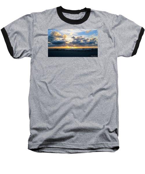 Seagulls On The Beach At Sunrise Baseball T-Shirt by Robert Banach