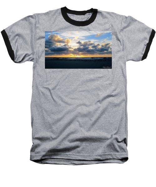 Seagulls On The Beach At Sunrise Baseball T-Shirt