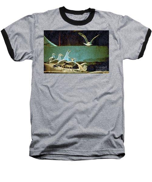 Seagulls On The Beach Baseball T-Shirt