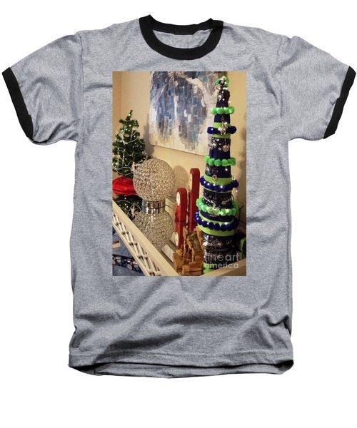 Seahawk Christmas Baseball T-Shirt