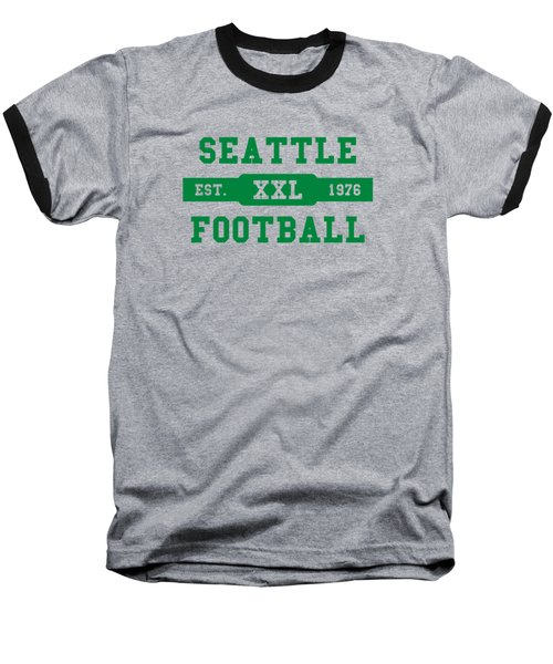 Seahawks Retro Shirt Baseball T-Shirt by Joe Hamilton