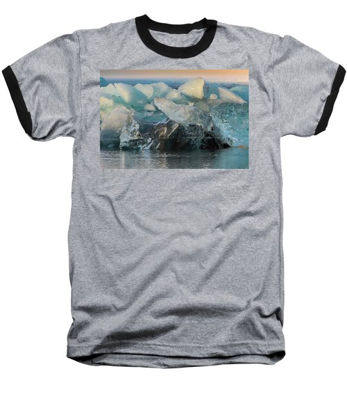 Seal Nature Sculpture Baseball T-Shirt by Allen Biedrzycki