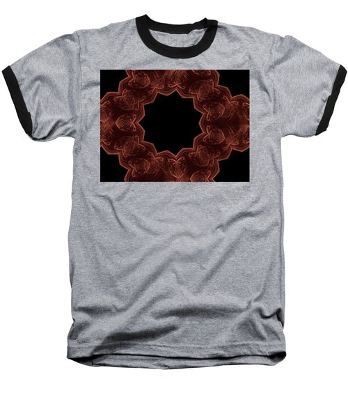 Seamless Kaleidoscope Copper Baseball T-Shirt