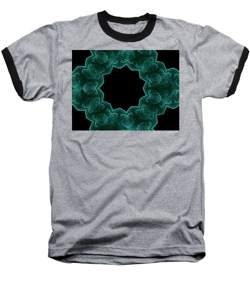 Seamless Kaleidoscope Green Baseball T-Shirt