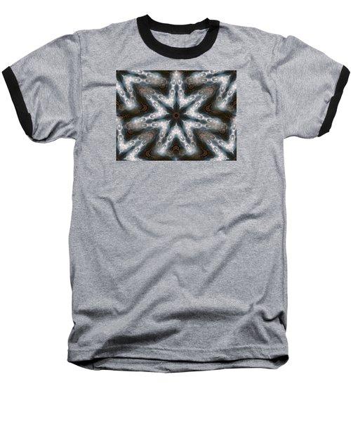 Seamless Mountain Star Baseball T-Shirt by Ernst Dittmar