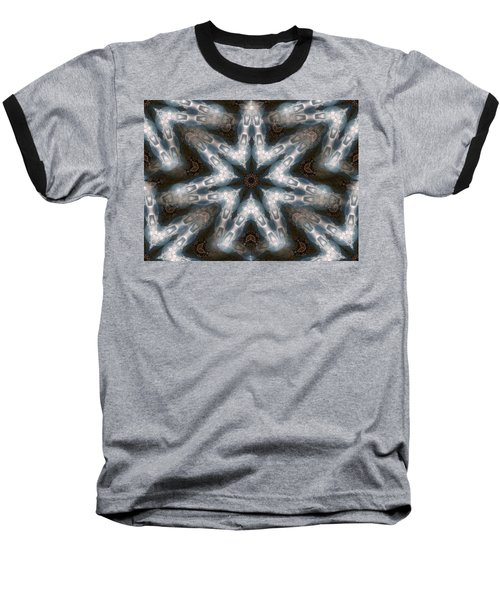 Seamless Mountain Star Baseball T-Shirt