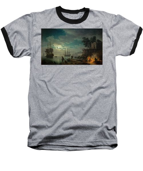 Seaport By Moonlight Baseball T-Shirt