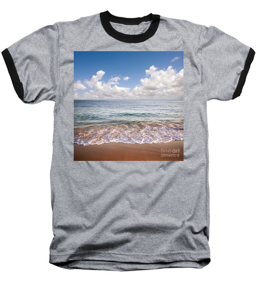Seascape Baseball T-Shirt by Carlos Caetano