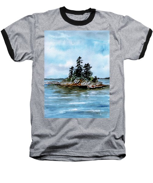 Seascape Casco Bay Maine Baseball T-Shirt