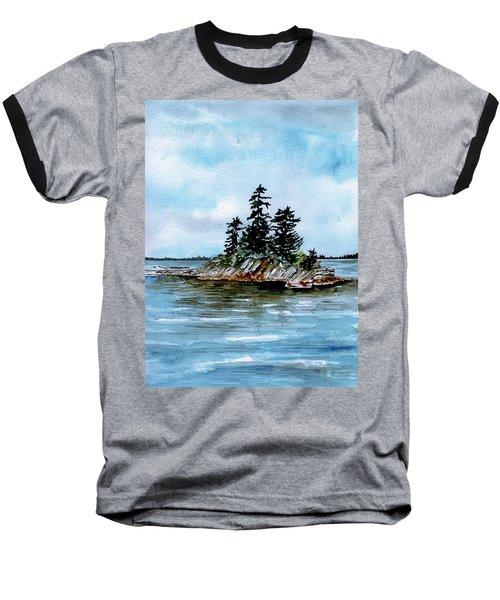 Seascape Casco Bay Maine Baseball T-Shirt
